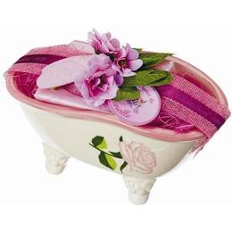 Set Cadou Savoniera Cadita Baie Sapun Natural Marsilia 100g Trandafir Rose Le Chatelard 1802