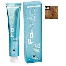 Vopsea Crema Permanenta Fanola 9.03 Blond Foarte Deschis Cald, 100ml