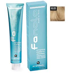 Vopsea Crema Permanenta Fanola 10.03 Blond Platinat Cald, 100ml