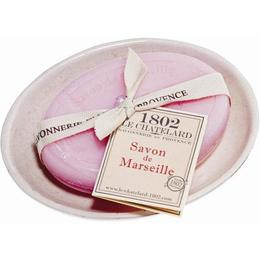 Set Cadou Savoniera Sapun Natural Marsilia Oval 100g Trandafir Bujor Rose Pivoine Le Chatelard 1802