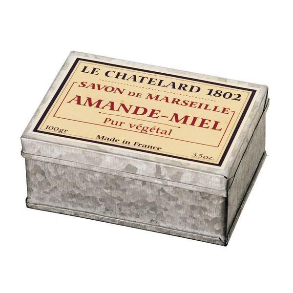 Sapun Natural de Marsilia 100g Migdale Miere Cutie Galva Le Chatelard 1802 esteto.ro