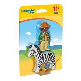 Playmobil 1.2.3. - Padurar cu zebra