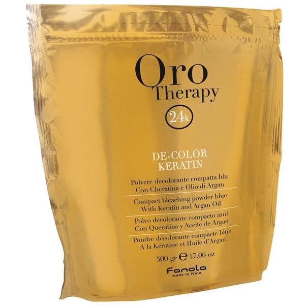 Pudra Decoloranta Compacta Fanola Oro Therapy De-Color Keratin, 500g poza