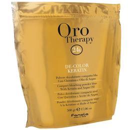 Pudra Decoloranta Compacta Fanola Oro Therapy De-Color Keratin, 500g
