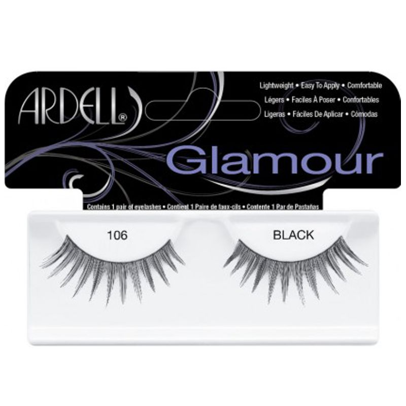Gene False tip Banda - Ardell Glamour Lashes 106 Black imagine produs