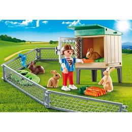 Playmobil Country - Set portabil - Ferma iepurasilor