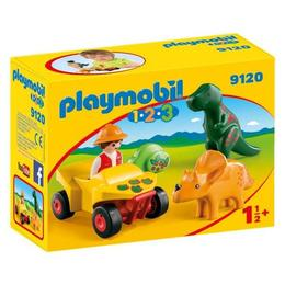 Playmobil 1.2.3. - explorator cu dinozaur