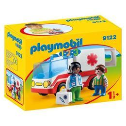 Playmobil 1.2.3. - ambulanta si echipajul de salvare
