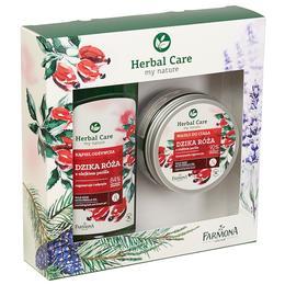Pachet Cadou pentru Ingrijire Corporala cu Trandafir Salbatic Farmona Herbal Care - Gel de Baie si Dus 500ml, Unt de Corp 200ml