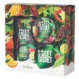 Pachet Cadou pentru Ingrijire Corporala cu Ciocolata Farmona Sweet Secret - Gel de Baie si Dus 300ml, Exfoliant si Masca de Corp 200g