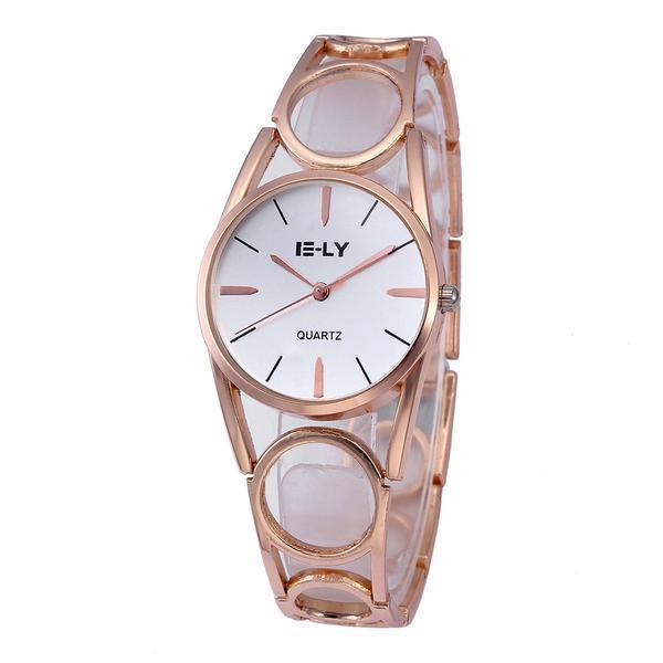 Ceas de dama E-LY, stil Fashion, bratara metalica