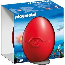 Playmobil Knights - Se ascunde o surpriza in pusculita-ou!Curajosul dragon si cavaler.