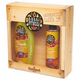 Pachet Cadou pentru Ingrijire Corporala cu Papaya si Tamarillo Farmona Tutti Frutti - Gel de Baie si Dus 425ml, Spray de Corp 200ml