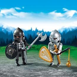Playmobil Figurines - Set 2 figurine - cavaleri rivali