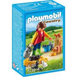 Playmobil Country - Femeie cu familie de pisici