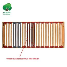 Somiera Relax Pat RUS, din lemn masiv, fag stratificat, 80x190xh35 cm - Cbs Export