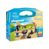 Playmobil Family Fun - Cu setul portabil iesire la gratar cel mic isi poate chema si prietenii la joaca.