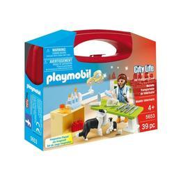 Playmobil City Life - Cu setul portabil - in vizita la veterinar cei mici vor invata sa aiba grija de animalute.