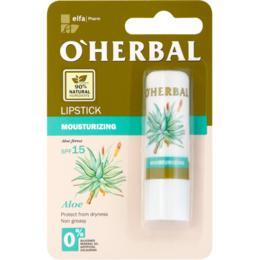 Balsam Hidratant pentru Buze cu Extract de Aloe SPF 15 O'Herbal, 4.8g