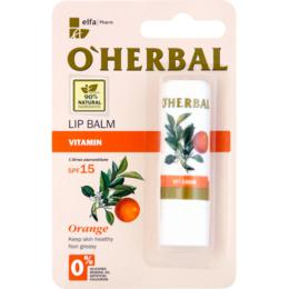 Balsam Vitaminizant pentru Buze cu Ulei de Portocale SPF 15 O'Herbal, 4.8g
