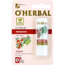 Balsam Protector pentru Buze cu Ulei de Argan O'Herbal, 4.8g