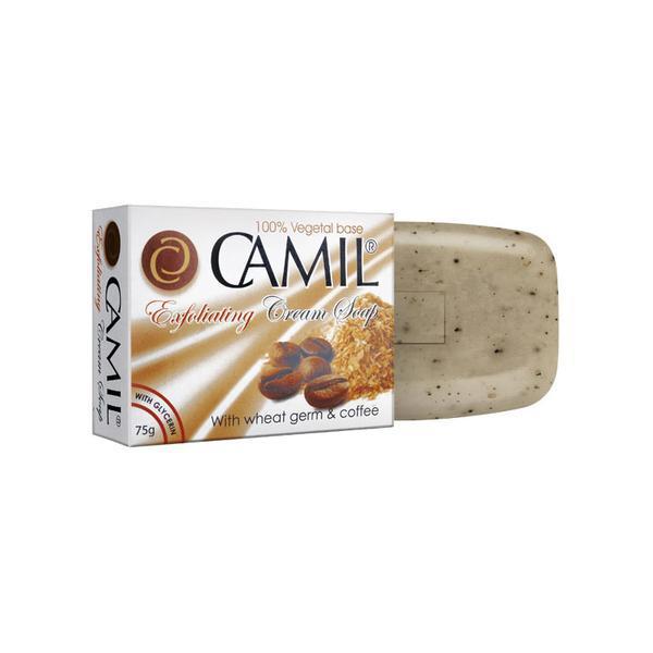 Sapun exfoliant cu germeni de grau si cafea Camil 75gr imagine produs