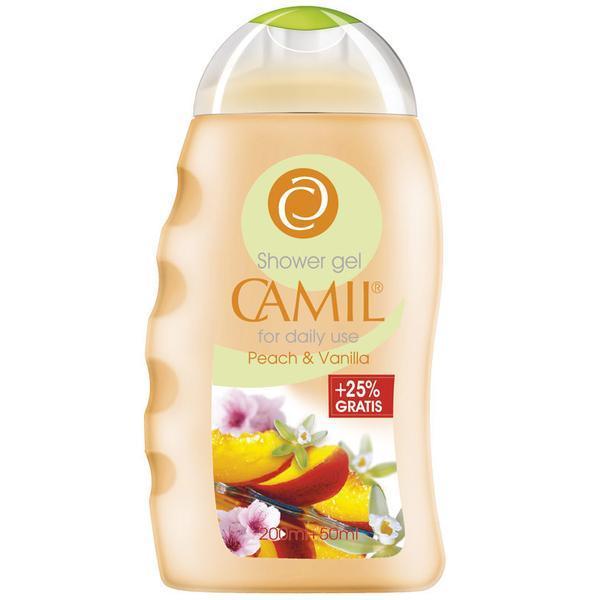 Gel de dus cu piersici si vanilie Camil 200ml + 50ml Gratis imagine produs