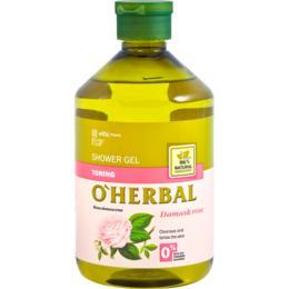 Gel de Dus Tonifiant cu Extract de Trandafir O'Herbal, 500ml