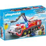 Playmobil City Action - Masina de pompieri al aeroportului