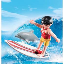 Playmobil Figurines - Cel mic va avea parte de adrenalina alaturi de surfer cu placa lui de surf.