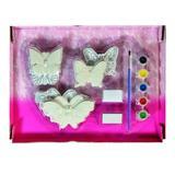 Set pictura magneti frigider Fluturi Ceramica