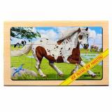Puzzle lemn  Animale domestice 2 - 4 planse - Mellisa & Doug