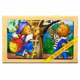Puzzle lemn Familie ursuleti - 4 planse * 12 piese - Mellisa & Doug