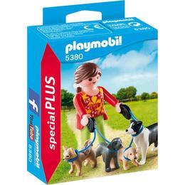 Playmobil Figurines - Femeia cu catelusi la plimbare