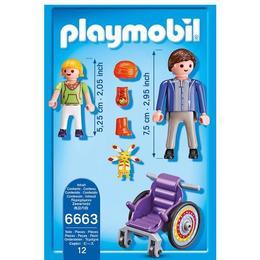 Playmobil City Life - Copil in carucior cu rotile