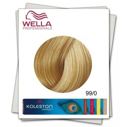 Vopsea Permanenta - Wella Professionals Koleston Perfect nuanta 99/0 blond luminos intens