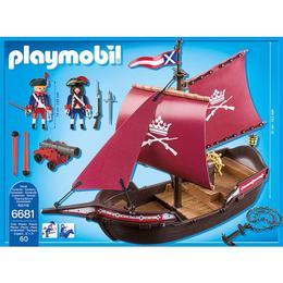 Playmobil Pirates - Barca soldatilor cu tun