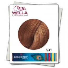 Vopsea Permanenta - Wella Professionals Koleston Perfect nuanta 8/41 blond deschis aramiu cenusiu