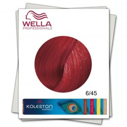 Vopsea Permanenta - Wella Professionals Koleston Perfect nuanta 6/45 blond inchis rosu mahon