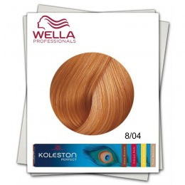 Vopsea Permanenta - Wella Professionals Koleston Perfect nuanta 8/04 blond deschis cald