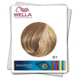 Vopsea Permanenta - Wella Professionals Koleston Perfect nuanta 8/1 blond deschis cenusiu