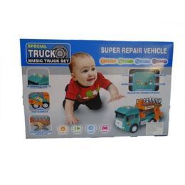 Camion de jucarie cu platforma hidraulica Disney Toy cu sunete si lumini, varsta 3 ani +