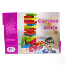 Joc Turnul instabil Jenga in limba engleza, lemn, varsta 3 ani+, multicolor