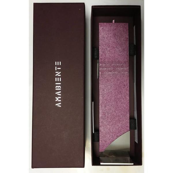 Set Cadou Lumanare Decorativa cu Suport Otel Inox Amabiente Kore Purple Violet Mov