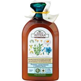Balsam pentru Par Vopsit cu Extract de Musetel si Ulei de In Zelenaya Apteka, 300ml