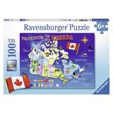 Puzzle harta canadei, 100 piese - Ravensburger