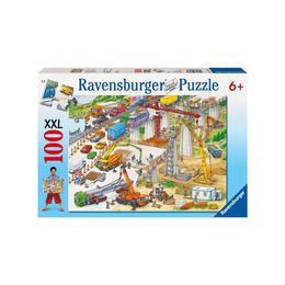 Puzzle teren de constructii, 100 piese - Ravensburger