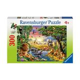 Puzzle seara in jungla, 300 piese - Ravensburger