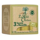 Sapun de Marsilia Extra Pur 72% Ulei de Masline Le Petit Olivier, 3 x 100g