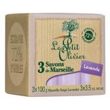 Sapun de Marsilia Extra Pur 72% Ulei de Masline si Extract de Lavanda Le Petit Olivier, 3 x 100g